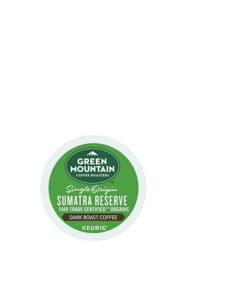 384 K-cups GREEN MOUNTAIN SUMATRAN RESERVE EXTRA BOLD COFFEE