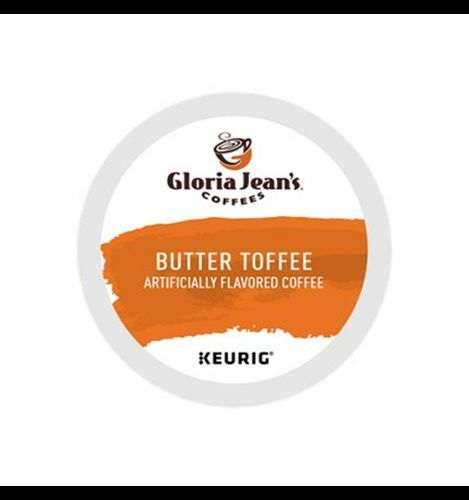 384 K-cups GLORIA JEAN'S BUTTER TOFFEE COFFEE  Fast and Fresh!