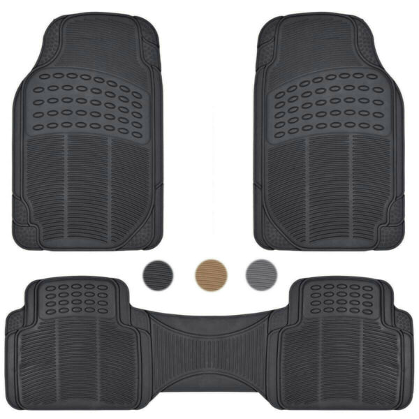 Car Floor Mats for All Weather Rubber Heavy Duty Protection Auto SUV Van 3 PCS $18.99
