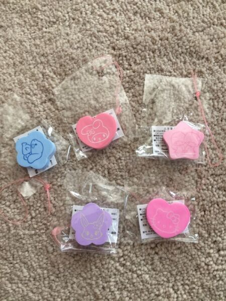 Sanrio Trinkets Erasers Complete Set Hello Kitty Little Twin Stars Melody