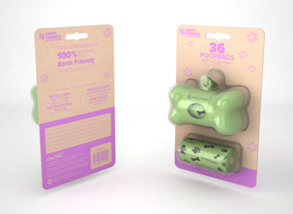 Earth Friendly® Dog Waste Bag Dispenser with 36 Count Lavender Scented Bags $4.00