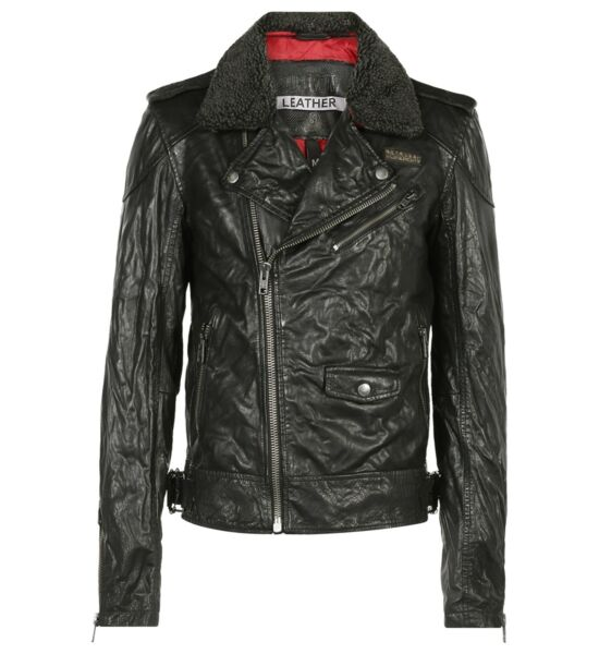 NEW Superdry Fashion Men#x27;s motorcycle coats Track Biker jacket washed leather $393.76