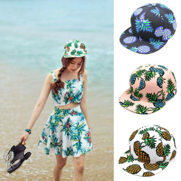 Women Girl Pineapple Snapback Bboy Baseball Cap Adjustable Unisex Hip-hop Hat