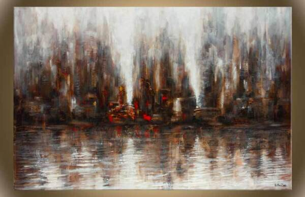 Victor Zag - Reflected View- Cityscape painting - Giclee Reproduction 30