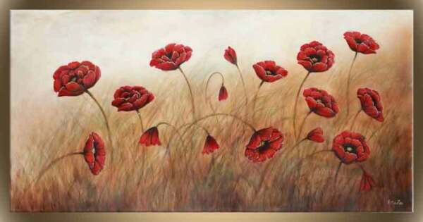 Victor Zag - Field of Poppies   - Florals  - Giclee Reproduction 30
