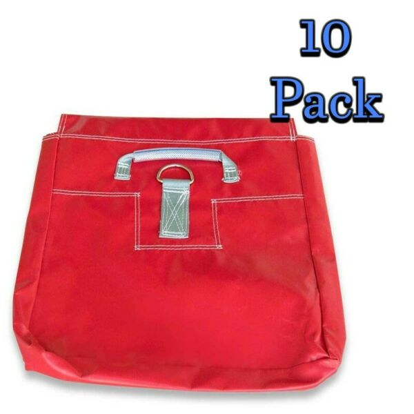 10 Anchor Weight Vinyl Sandbag Covers Red For Inflatable Moonwalk 50 Lb Capacity