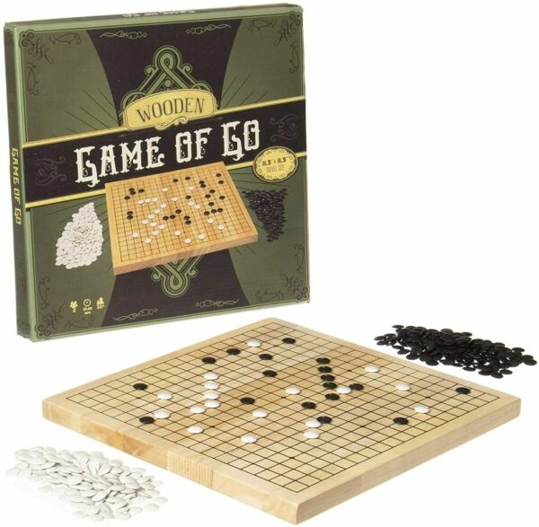Go Set with Natural Wood Board Complete Set of Stones by Brybelly