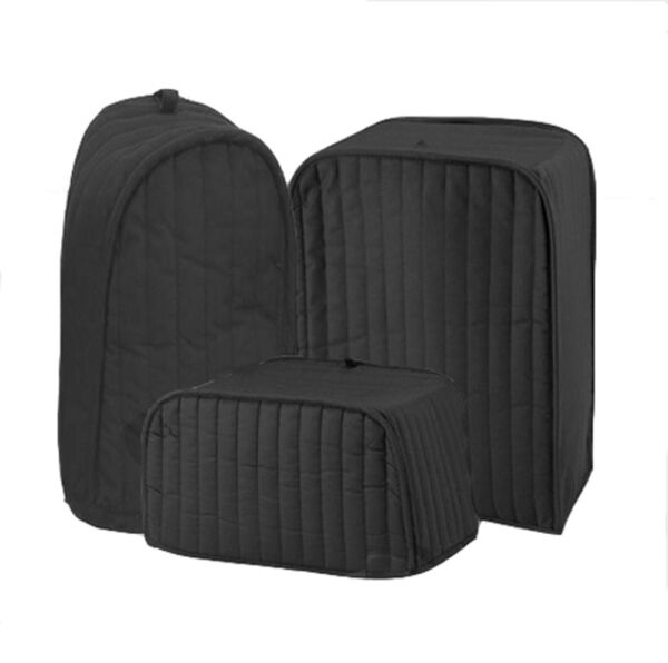 Ritz Quilted Solid Black Appliance Cover RITZ Polyester / Cotton Quilted Cover