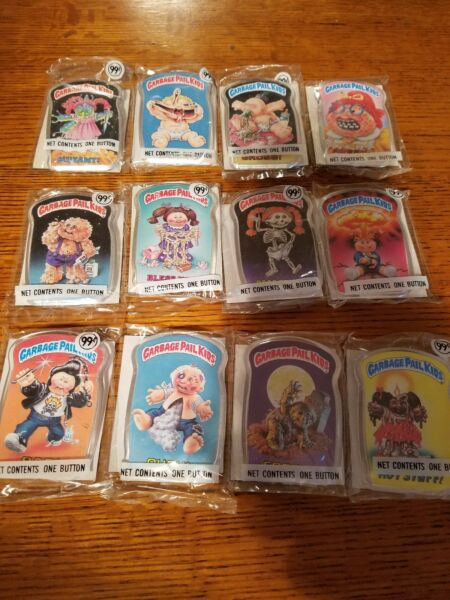 1986 Garbage Pail Kids BUTTONS (SEALED) : PICK SINGLES FROM DROP LIST