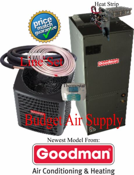 2 ton 14 SEER HEAT PUMP 410a Goodman GSZ140241ARUF25B1425ft LinesetTSTATHeat $1928.00