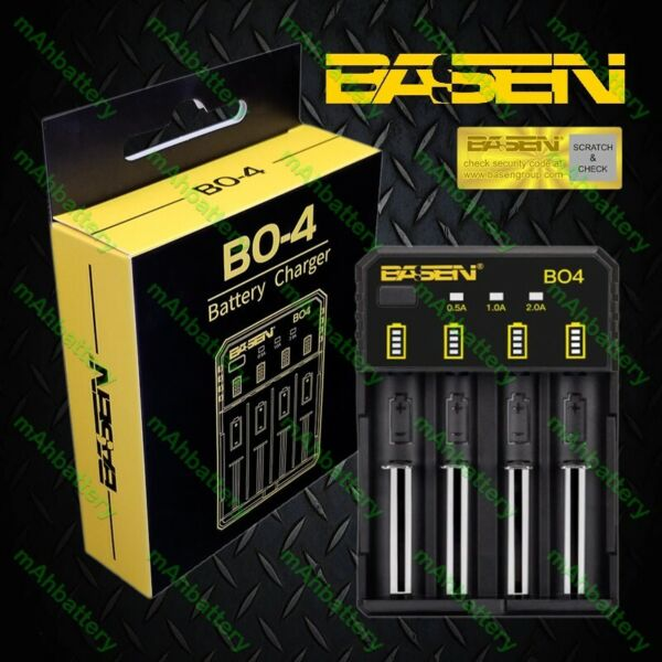 Basen BO4 USB Smart Lithium Ion Battery Charger  26650 21700 18650 18350 16340