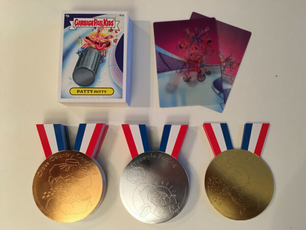 2014 Garbage Pail Kids Series 1 Base Cards - 61ab-66ab - Medals - Motion Cards