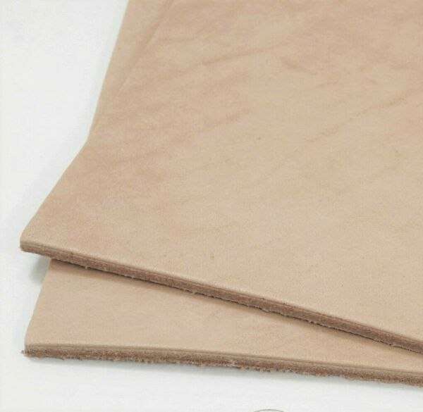 SLC Natural Veg Tan Cowhide Tooling Leather Pre Cut Project Piece $29.95