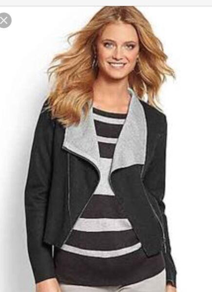 NWT Tommy Bahama Colwood moto-inspired asymmetrical wool jacket TW48639 $228