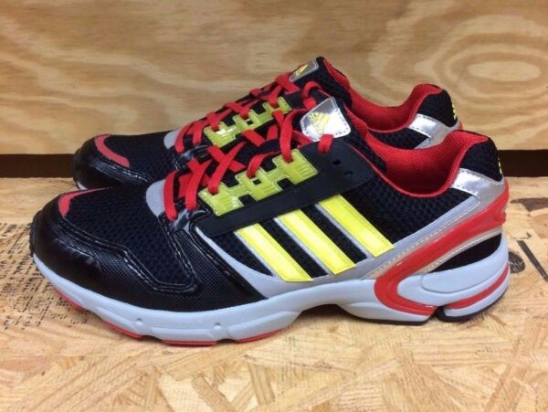 ADIDAS ZX 8000 SP BLACK RED YELLOW RUNNING  SZ 8.5  G04887 L