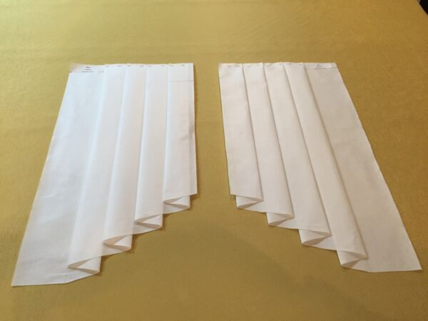 10W x 46L Ultimate Jabot Pattern! Shipped Fully Pleated 100% Cotton Video Inst