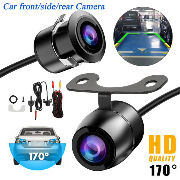 170° CMOS Car Front Side Rear View Reverse Backup Night Vision Parking Camera HD