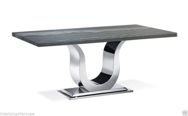 Dining Table - Modern Dining Room Table - Marble Table - Uscio IV Grey Lines 79