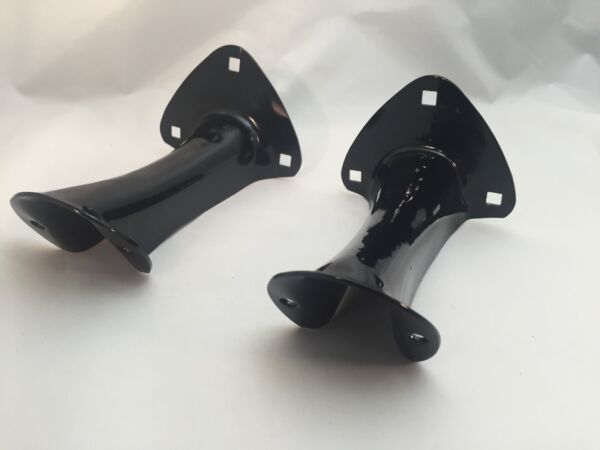 Pair Black Tail Light Brackets for Ford Model A