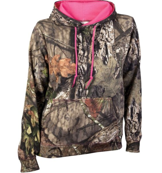 WOMENS MOSSY OAK REALTREE BREAK UP COUNTRY CAMO PULLOVER FLEECE HOODIE SMALL NWT