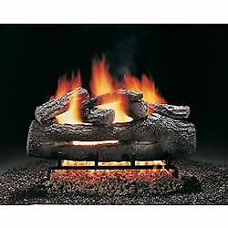Hargrove Fire Oak Vented Gas Logs For Fireplace 24