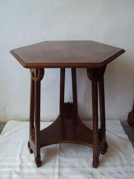 Antique Art Nouveau tablemahogany wood 1910