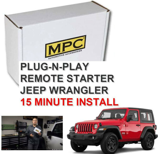 Add-on Remote Start Kit For 2007-2018 Jeep Wrangler Plug & Play -Use OEM Remotes