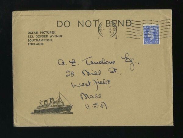 RMS Queen Elizabeth quot;Ocean Picturesquot; Envelope amp; Order Form Cunard Line