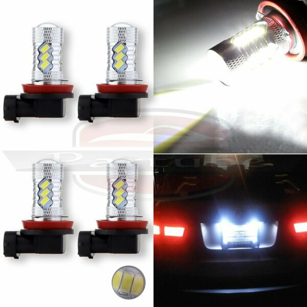 4x 6000K H11 H8 Cree LED 15-5730 SMD Headlight Low Beam White Light Lamp Fast