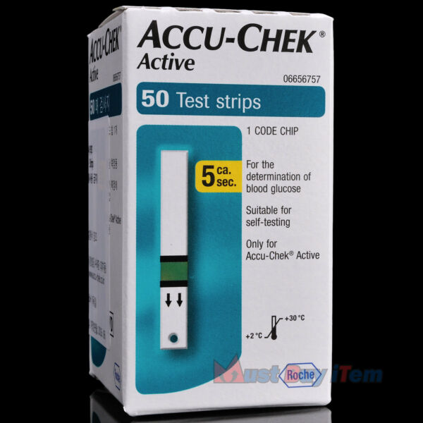 ROCHEAccu-Chek Active Diabetic Blood Glucose Meter 50 Test Strips Exp. 102017
