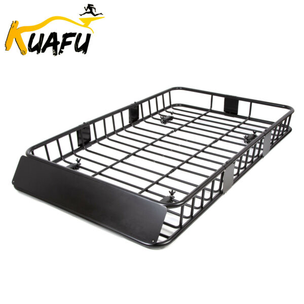 Universal 64quot; Black Roof Rack Extension Cargo Top Luggage Hold Carrier Basket $100.50