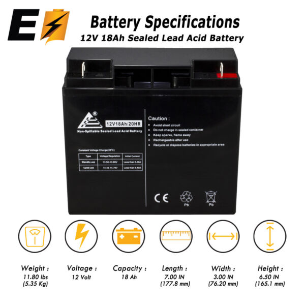 12v 18ah for 20Ah BB Battery HR22-12, HR22