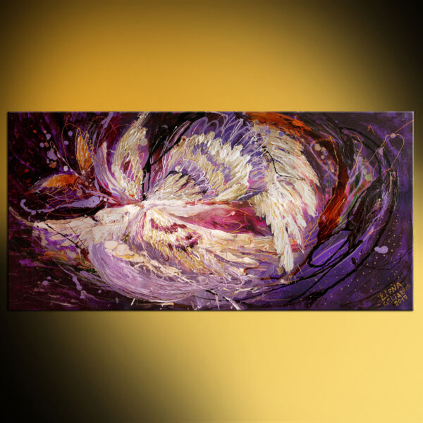 The Angel Wings series #8. The dance of spirit. Palette knife abstract painting