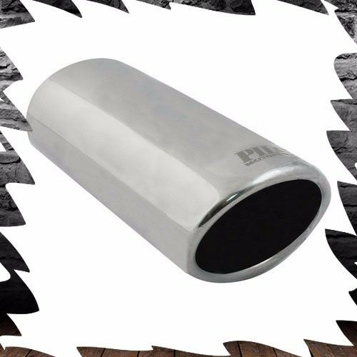 Stainless Steel Single Exhaust Tip Oval Slant Bolt On For Car SUV 2
