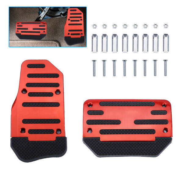 Universal 2pcs Non Slip Automatic Gas Brake Foot Pedal Pad Cover Accessories Kit $7.99