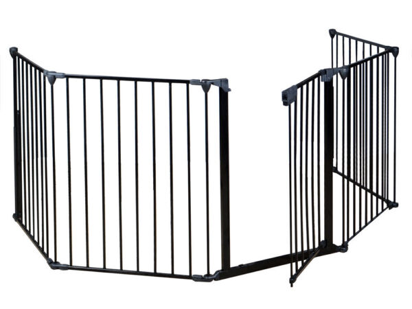 Fireplace Fence Baby Safety Fence Hearth Gate BBQ Metal Fire Gate Pet Cat Dog
