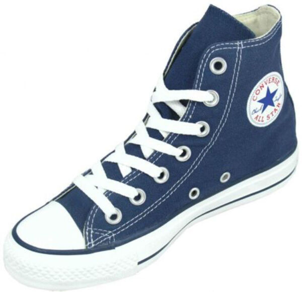 Converse Chuck Taylor Hi Navy Blue White Mens Womens Canvas Shoes Sizes