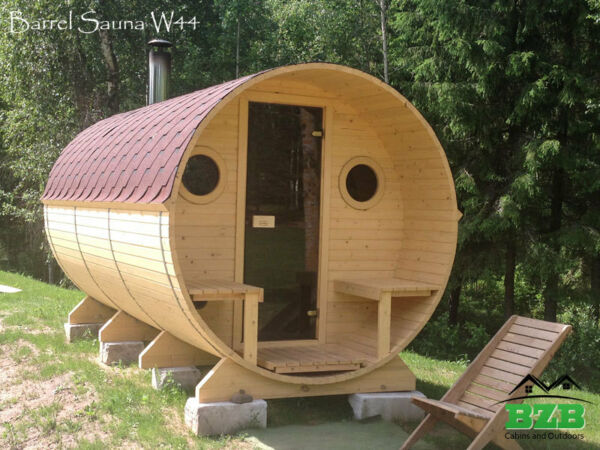Barrel Sauna Kit for 6 Persons Harvia M3 Heater Free Upgrades! Free Shipping!