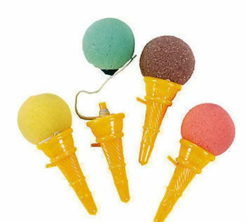 12 ICE CREAM CONE TOY SHOOTERS Birthday SOCIAL Party Favor OR game