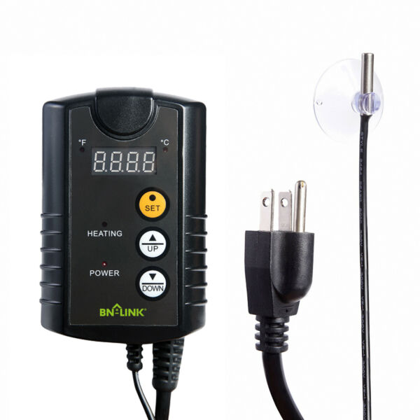 BN LINK Digital Temperature Controller Thermostat Outlet for Heat Mat Seed 110V $18.99