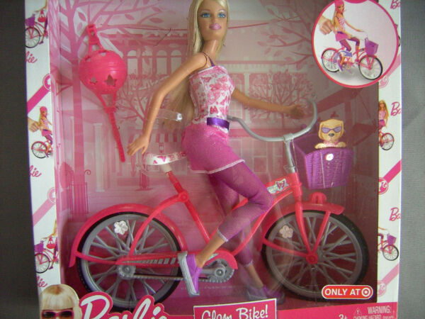 Barbie Doll amp; Glam Bike Target Exclusive Legs Move Age 3 NIB Mint Condition $29.99