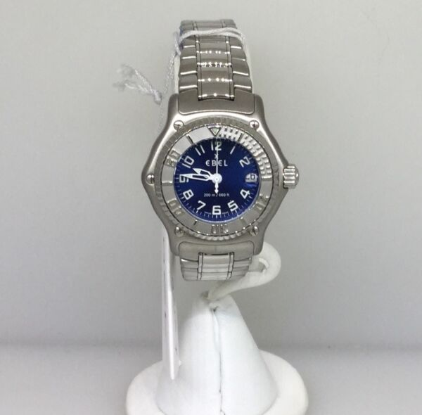 EBEL 1911 DISCOVERY BLUE DIAL WOMENS WATCH 9087321/4665P BNIB 75% DISCOUNT!!!!
