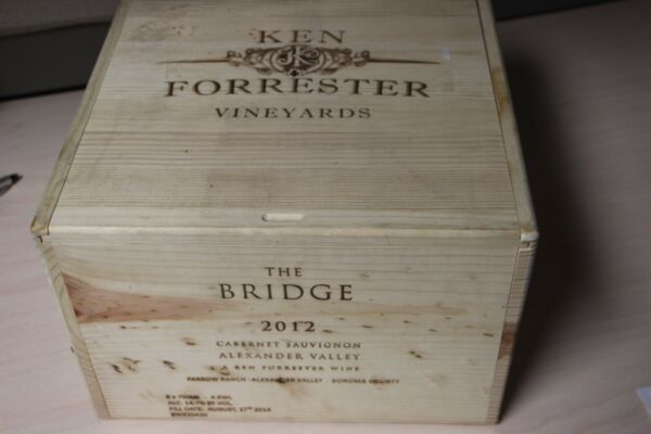Very Rare Ken Forrester The Bridge Cabernet Sauvignon Wood Wine Box or Crate