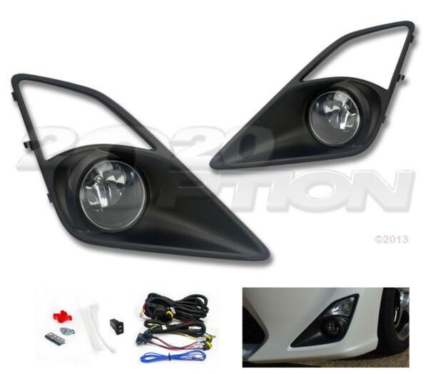 OE STYLE FOG LIGHTS PAIR CLEAR LAMPS SWITCH WIRE FOR 2012 13-16 SCION FRS FR-S