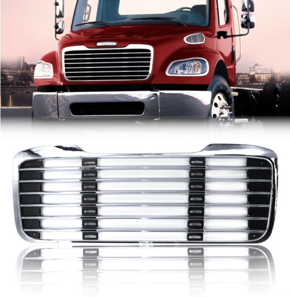 Freightliner M2 Grille Chrome 2003 2015 w o Bug Screen Replaces A17 14787 001
