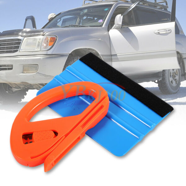 Vinyl Cutter Decal Squeegee Scraper Tools Kit For Car Vehicles Clean New LJ