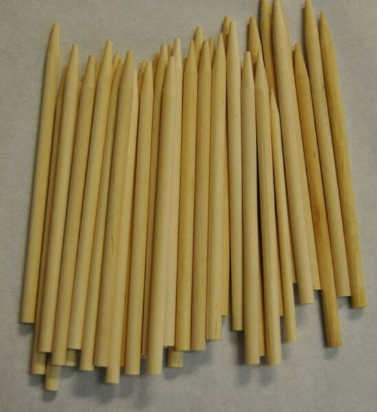 CARAMEL CANDY APPLE CORN DOG STICKS 50ct Pointed Wood Skewers Dowels 6quot;x1 4quot; $5.99