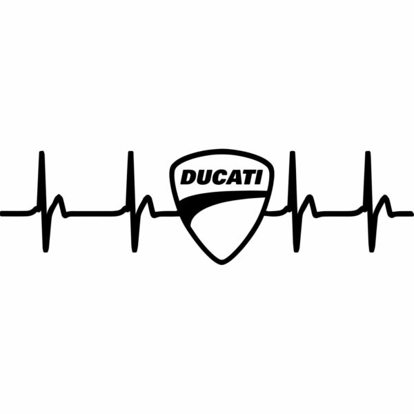 DUCATI Heart Rate Window Vinyl Decal Sticker Emblem Logo Graphic Racing Sport