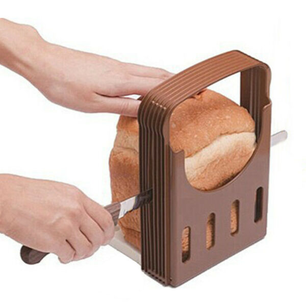 Bread Slicer Cutter Kitchen Guide Loaf Cake Toast Slice Slicing Cutting New
