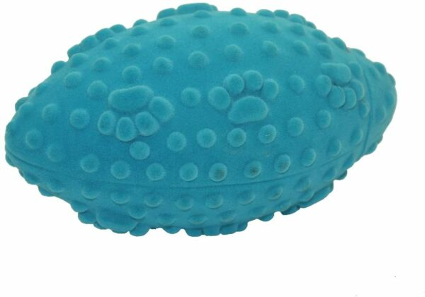 Multipet  Vive Velvet Covered Vinyl Football Toy Colors Vary $4.89